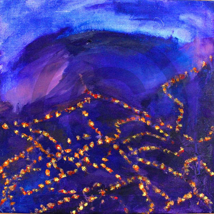 Night Drive Yorkshire - Oil on canvas