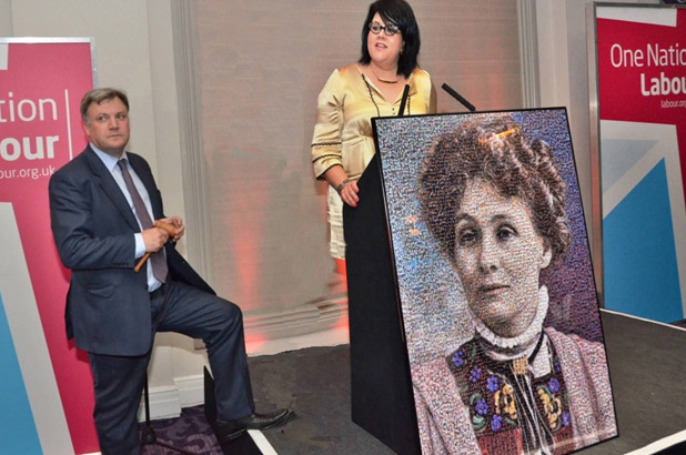 Emily Wilding Davidson Gala Event with Ed Balls &  Amy Lame auctioning a reproduction of the portrait.